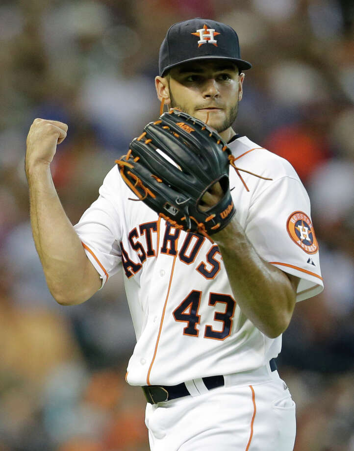 Even as the youngest starting pitcher in the majors at 21, the Astros' Lance McCullers Jr. didn't find the situation too big for him Wednesday night. He allowed the formidable Angels lineup one run on five hits over seven innings at Minute Maid Park. Photo: Melissa Phillip, Staff / © 2015 Houston Chronicle