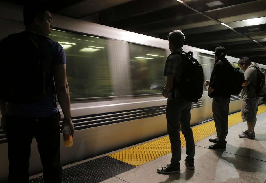 Passengers wait to board a west-bound BART train in the Embarcadero BART station in San Francisco, Calif., on Wednesday, July 29, 2015.  Photo: Carlos Avila Gonzalez, The Chronicle