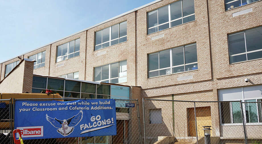 The additions at Fairfield Ludlowe High School are nearing completion are expected to be done when school starts this fall. Photo: Genevieve Reilly /Fairfield Citizen / Fairfield Citizen
