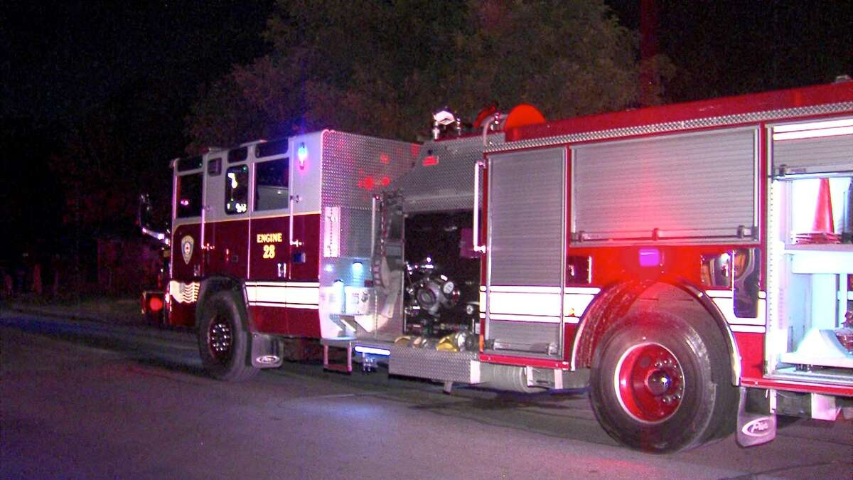 A man received minor burns after sparking a fire on the North Side Wednesday night.