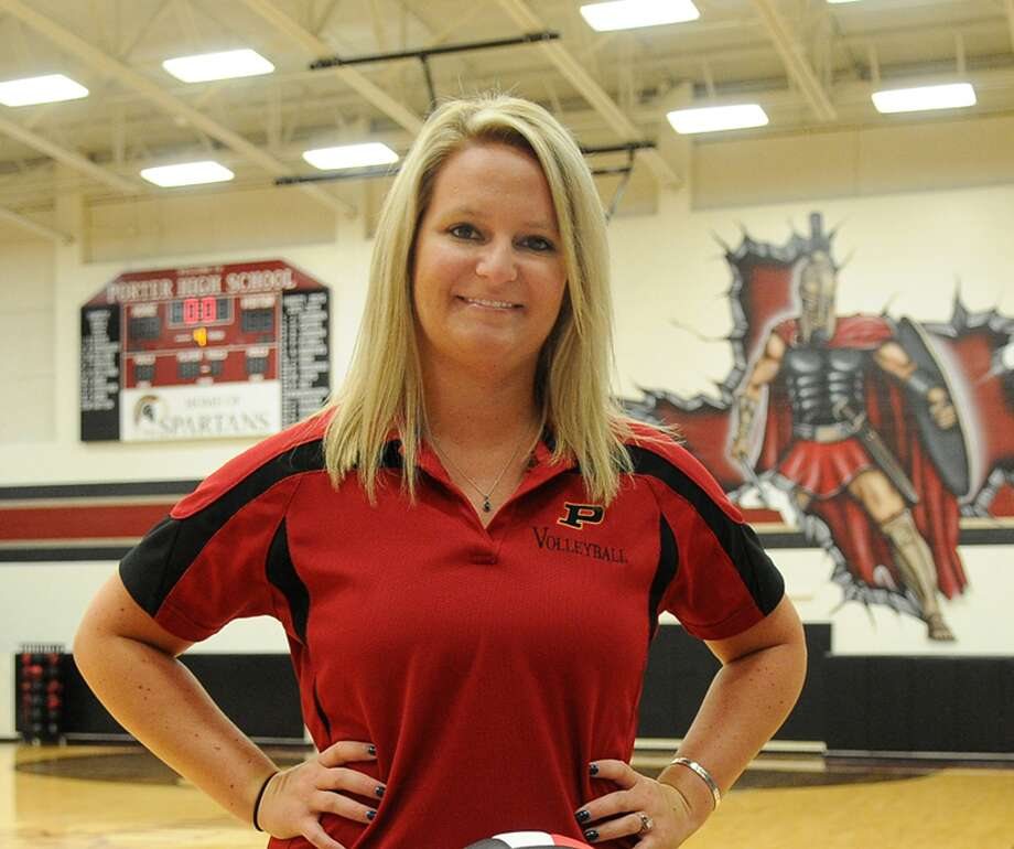 Ashley Tiernan, is the head volleyball coach at Porter High School. Photo: Jerry Baker, Freelance