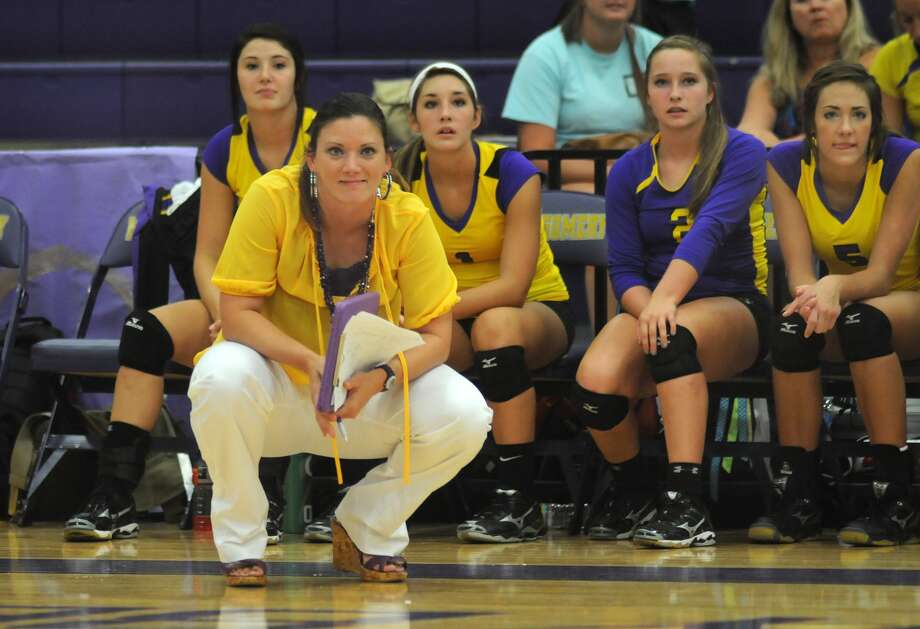 Terri Wade, shown during here time as Montgomery High volleyball coach, has taken the reigns at The Woodlands and is heading into her first season. Photo: Jerry Baker, Freelance