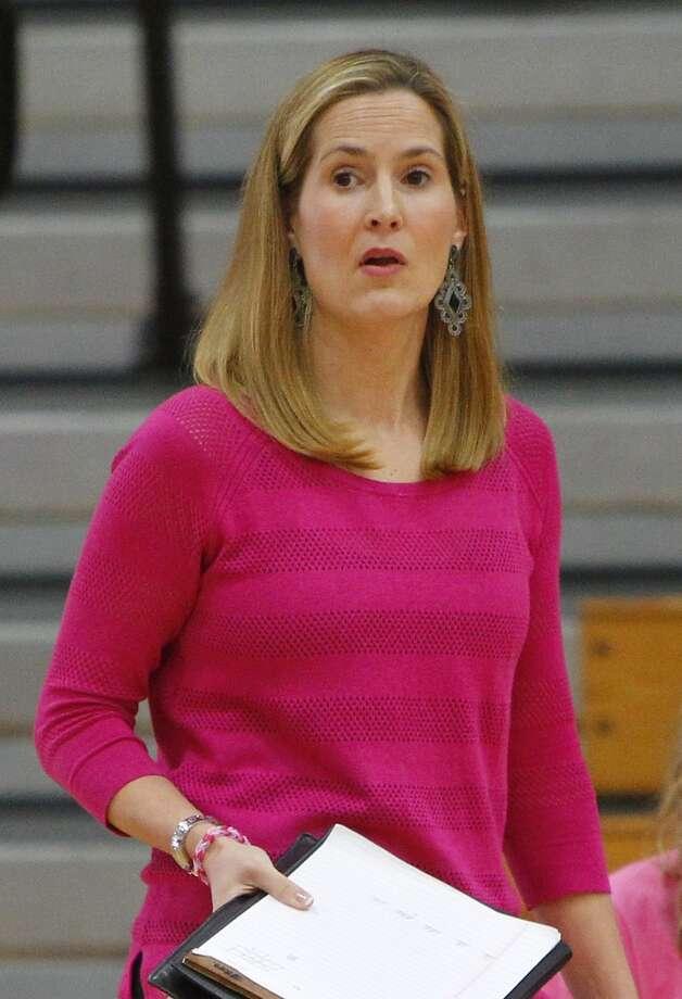 Katy head volleyball coach Karen Paxton. Photo: Diana L. Porter, Freelance / © Diana L. Porter
