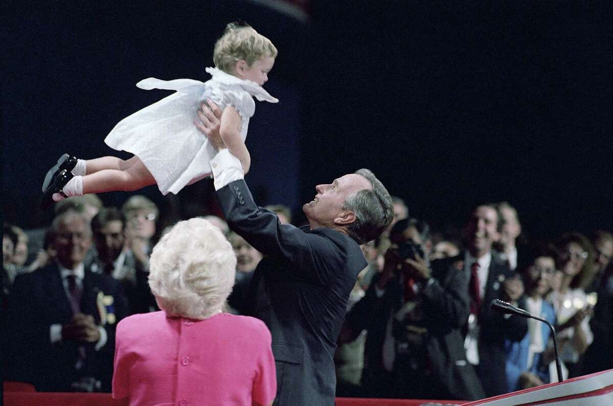 George H W Bush 1988 family at RNC convention.