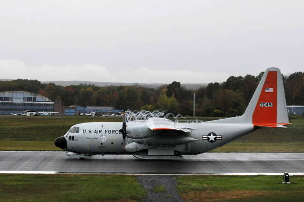 A LC-130 Airlift Wing 109th Air National Guard departs for Antarctica from Stratton Air National Guard Base in Scotia 10/15/2010. (Michael P. Farrell / Times Union)