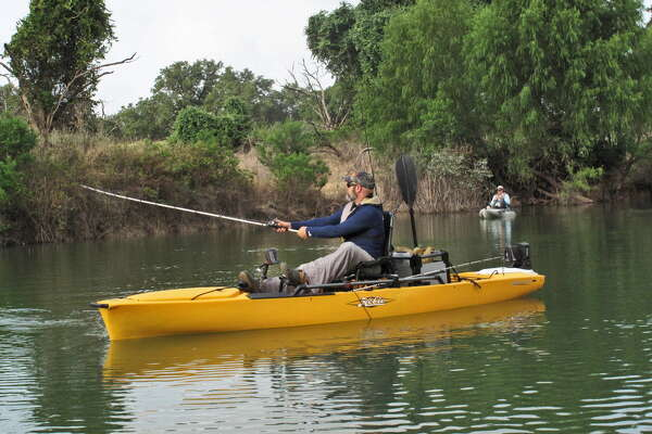 Fishing's no sweat when your kayak has tons of goodies
