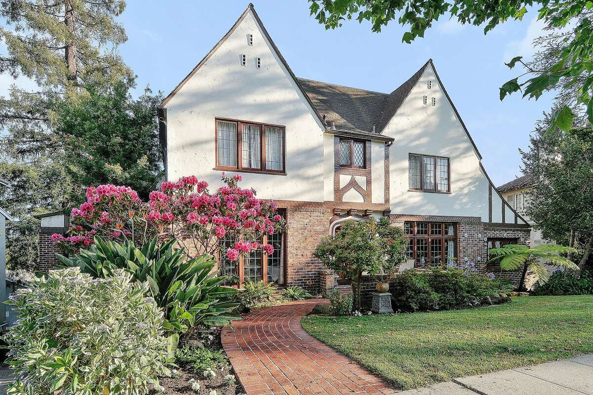 The grand Tudor at 987 Longridge Road in Oakland's Crocker Highlands neighborhood dates back to 1935, Click here to see more Oakland listings.