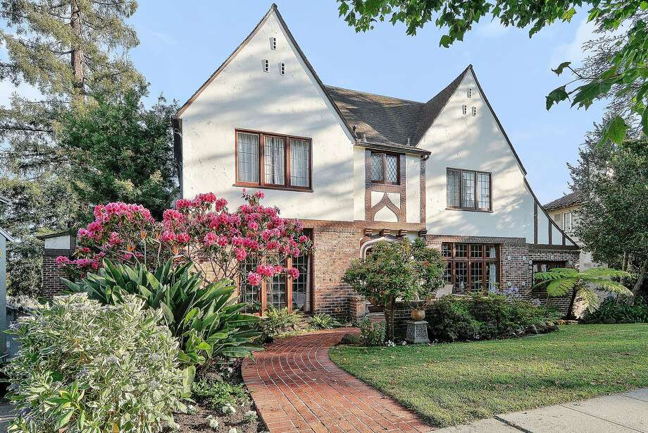 The grand Tudor at 987 Longridge Road in Oakland's Crocker Highlands neighborhood dates back to 1935,