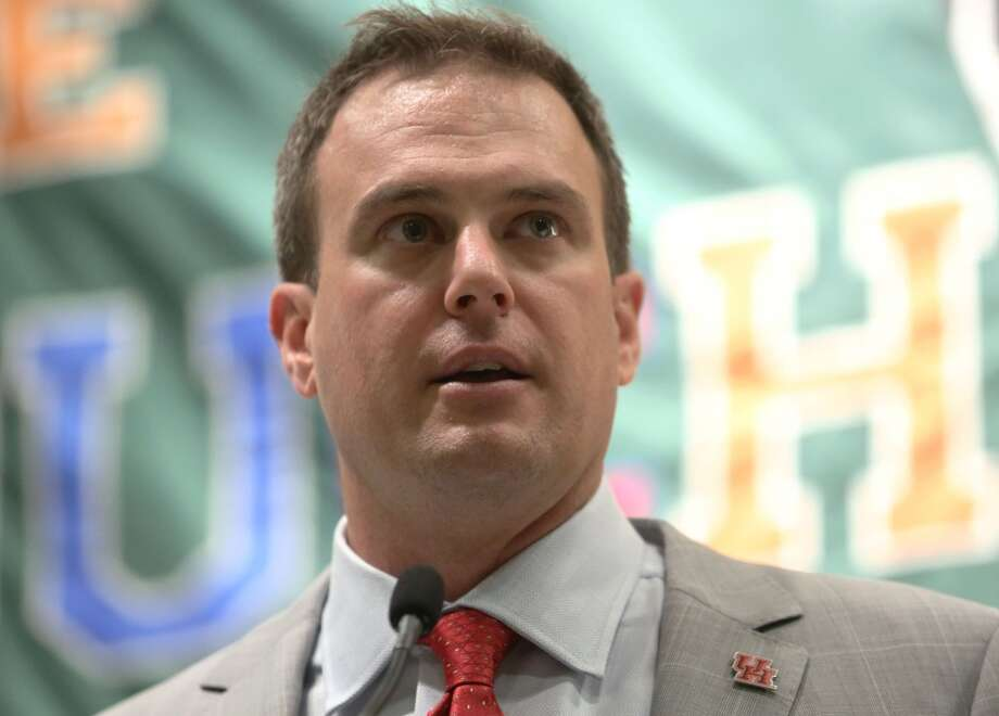 After Saturday's game, UH coach Tom Herman admitted making contact with an official while disputing a penalty. Photo: Houston Chronicle