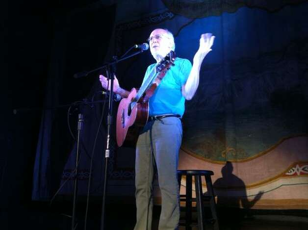 Folk singer Peter Yarrow performs at Medicare 50th birthday bash Cohoes Music Hall on July 30, 2015. (Michael P. Farrell/Times Union)