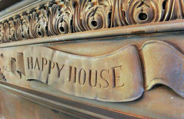Detail on the 19C fireplace in the living room of Mike Chrys' house on the shores of Lake George Friday June 12, 2015 in Bolton Landing, NY.   (John Carl D'Annibale / Times Union) Photo: John Carl D'Annibale / 00032208A