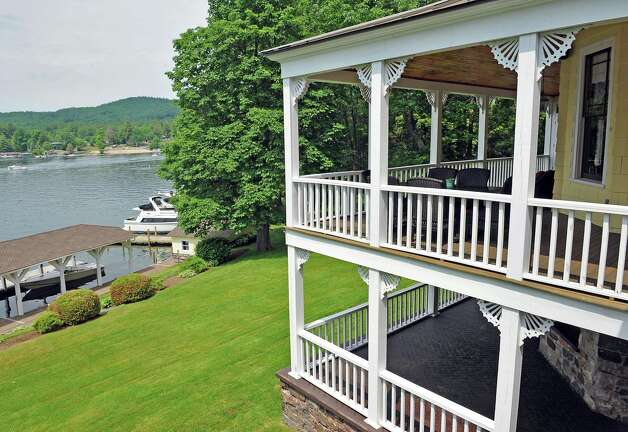 Porches at Mike Chrys' 19C house on the shores of Lake George Friday June 12, 2015 in Bolton Landing, NY.   (John Carl D'Annibale / Times Union) Photo: John Carl D'Annibale / 00032208A