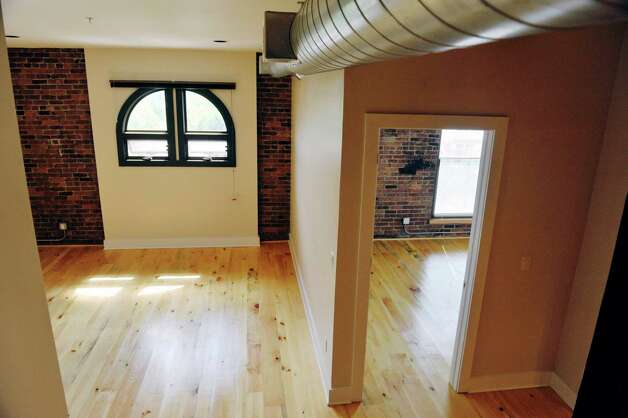 A view inside one of the apartments at Warehouse 71, located at 71 Canvass St. on Wednesday, July 22, 2015, in Cohoes, N.Y.  The Civil War-era warehouse is being turned into apartments.   (Paul Buckowski / Times Union) Photo: PAUL BUCKOWSKI / 00032700A