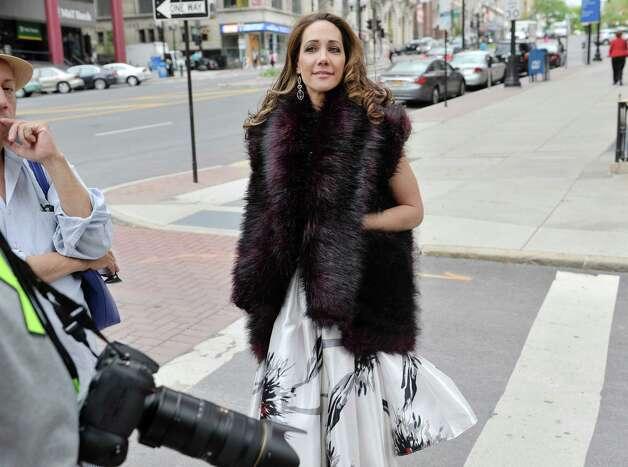 Jene Luciani takes part in a fashion shoot for local designer Daniel Mozzes on Wednesday, May 13, 2015, in Albany, N.Y.    (Paul Buckowski / Times Union) Photo: PAUL BUCKOWSKI / 00031808A