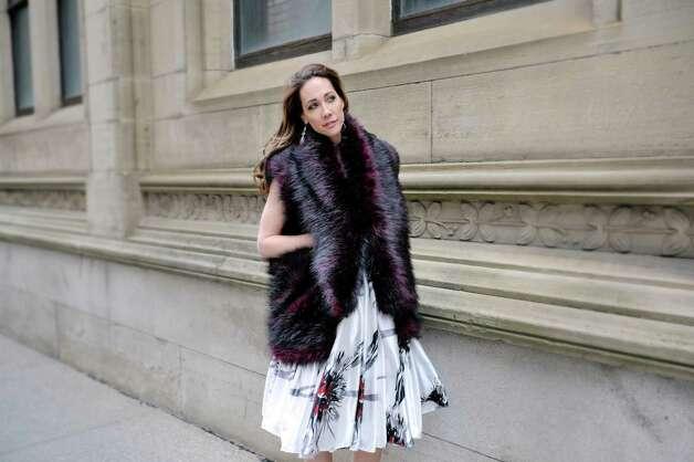 Jene Luciani says what is ?fashionable? depends on where you are. She's photographed wearing a Daniel Mozzes design. ? Photo by Paul Buckowski Times Union Photo: PAUL BUCKOWSKI / 00031808A