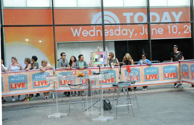 People check out the outside set at The Today Show on Wednesday, June 10, 2015 in New York, N.Y.  (Lori Van Buren / Times Union) Photo: Lori Van Buren / 00031899A