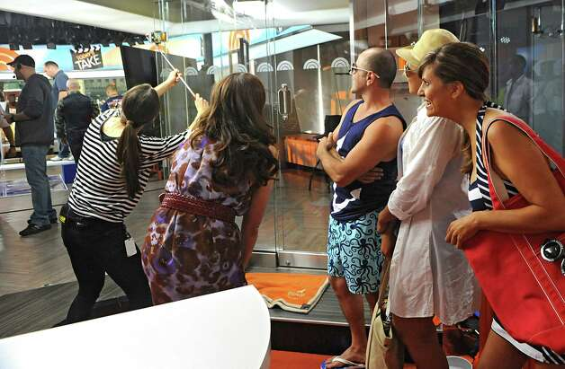 A producer takes a selfie of local fashion designer Jene Luciani of Niskayuna and her models on the set of The Today Show on Wednesday, June 10, 2015 in New York, N.Y.  (Lori Van Buren / Times Union) Photo: Lori Van Buren / 00031899A