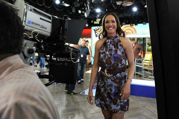 Local fashion designer Jene Luciani of Niskayuna leaves the set of The Today Show on Wednesday, June 10, 2015 in New York, N.Y. (Lori Van Buren / Times Union) Photo: Lori Van Buren / 00031899A