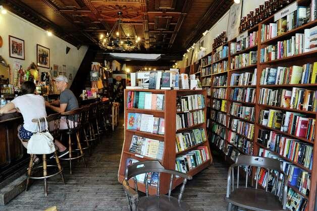 A view inside the Spotty Dog Books & Ale store on Warren St. on Thursday, June 25, 2015, in Hudson, N.Y.   (Paul Buckowski / Times Union) Photo: PAUL BUCKOWSKI / 00032353A