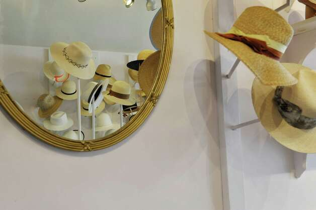 A view of the hats for sale at the Behida Dolic Millinery Hat Shop on Warren St. on Thursday, June 25, 2015, in Hudson, N.Y.  (Paul Buckowski / Times Union) Photo: PAUL BUCKOWSKI / 00032353A
