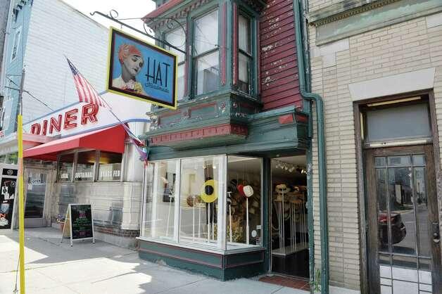 A view the Behida Dolic Millinery Hat Shop on Warren St. on Thursday, June 25, 2015, in Hudson, N.Y.  (Paul Buckowski / Times Union) Photo: PAUL BUCKOWSKI / 00032353A