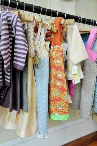 A view children's clothes for sale inside The Bee's Knees store on Warren St. on Warren St. on Thursday, June 25, 2015, in Hudson, N.Y.   (Paul Buckowski / Times Union) Photo: PAUL BUCKOWSKI / 00032353A