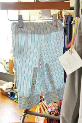 A view children's pants made out of men's shirts, made by Brothers and Bee for sale inside The Bee's Knees store on Warren St. on Thursday, June 25, 2015, in Hudson, N.Y.   (Paul Buckowski / Times Union) Photo: PAUL BUCKOWSKI / 00032353A