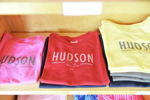 A view children's shirts for sale inside The Bee's Knees store on Warren St. on Warren St. on Thursday, June 25, 2015, in Hudson, N.Y.   (Paul Buckowski / Times Union) Photo: PAUL BUCKOWSKI / 00032353A