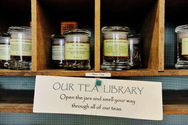 Teas for sniffing inside the Verdigris Art and Tea shop on Warren St. on Thursday, June 25, 2015, in Hudson, N.Y.    (Paul Buckowski / Times Union) Photo: PAUL BUCKOWSKI / 00032353A