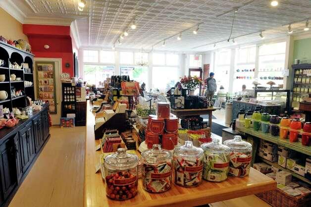 A view inside the Verdigris Art and Tea shop on Warren St. on Thursday, June 25, 2015, in Hudson, N.Y.    (Paul Buckowski / Times Union) Photo: PAUL BUCKOWSKI / 00032353A