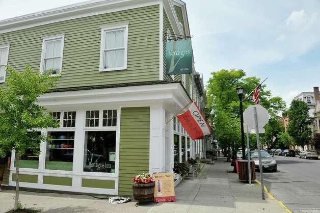 A view of the Verdigris Art and Tea shop on Warren St. on Thursday, June 25, 2015, in Hudson, N.Y.    (Paul Buckowski / Times Union) Photo: PAUL BUCKOWSKI / 00032353A