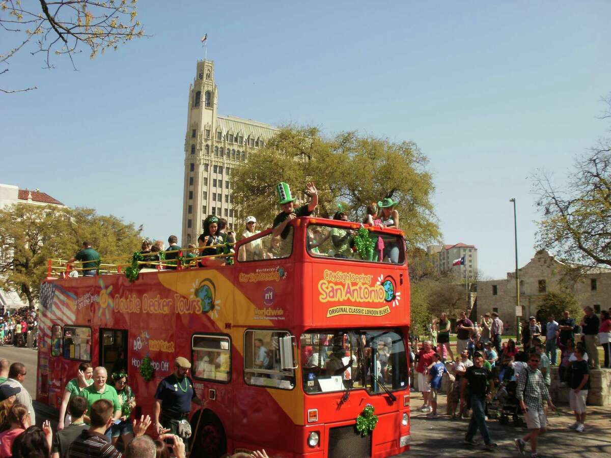 City Sightseeing San Antonio , $30citysightseeingsanantonio.comGet on board on of these kitschy London-style double decker buses and ride around town topless (but keep your shirt on). These high up views make for great selfies along a route that circulates down to Blue Star Arts and up to the Pearl. While Market Square is the most popular stop for tourists, the guides' favor the ever-changing Pearl, according to David Strainger of City Sightseeing S.A.
