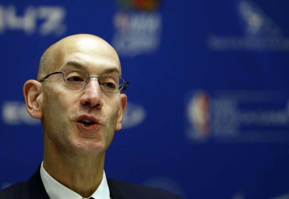 NBA Commissioner Adam Silver speaks during a media briefing for the Basketball without Borders Africa 2015 at the American International School in Johannesburg, South Africa, Thursday, July 30, 2015.  The NBA with some 20 top players is in South Africa for an exhibition, and NBA Commissioner Adam Silver expects more important games to come, led by Chris Paul and two-time All Star Luol Deng, featuring a Team World versus Team Africa on upcoming Saturday. (AP Photo/Themba Hadebe) Photo: Themba Hadebe, Associated Press