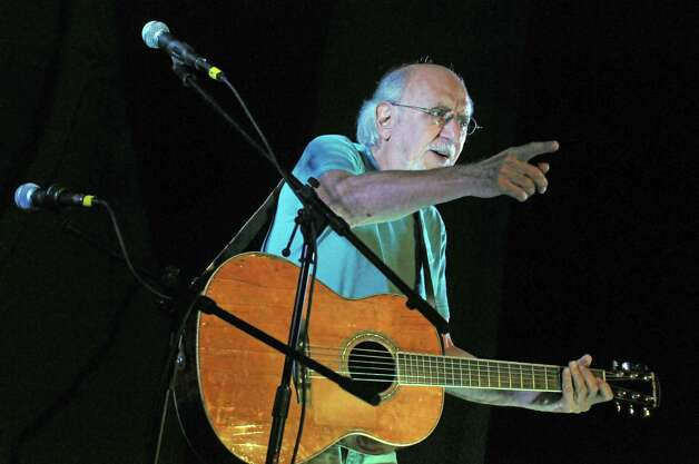 Folk singer and social activist Peter Yarrow performs during the Medicare 50th birthday bash at Cohoes Music Hall on Thursday July 30, 2015 in Cohoes, N.Y. (Michael P. Farrell/Times Union) Photo: Michael P. Farrell / 00032791A