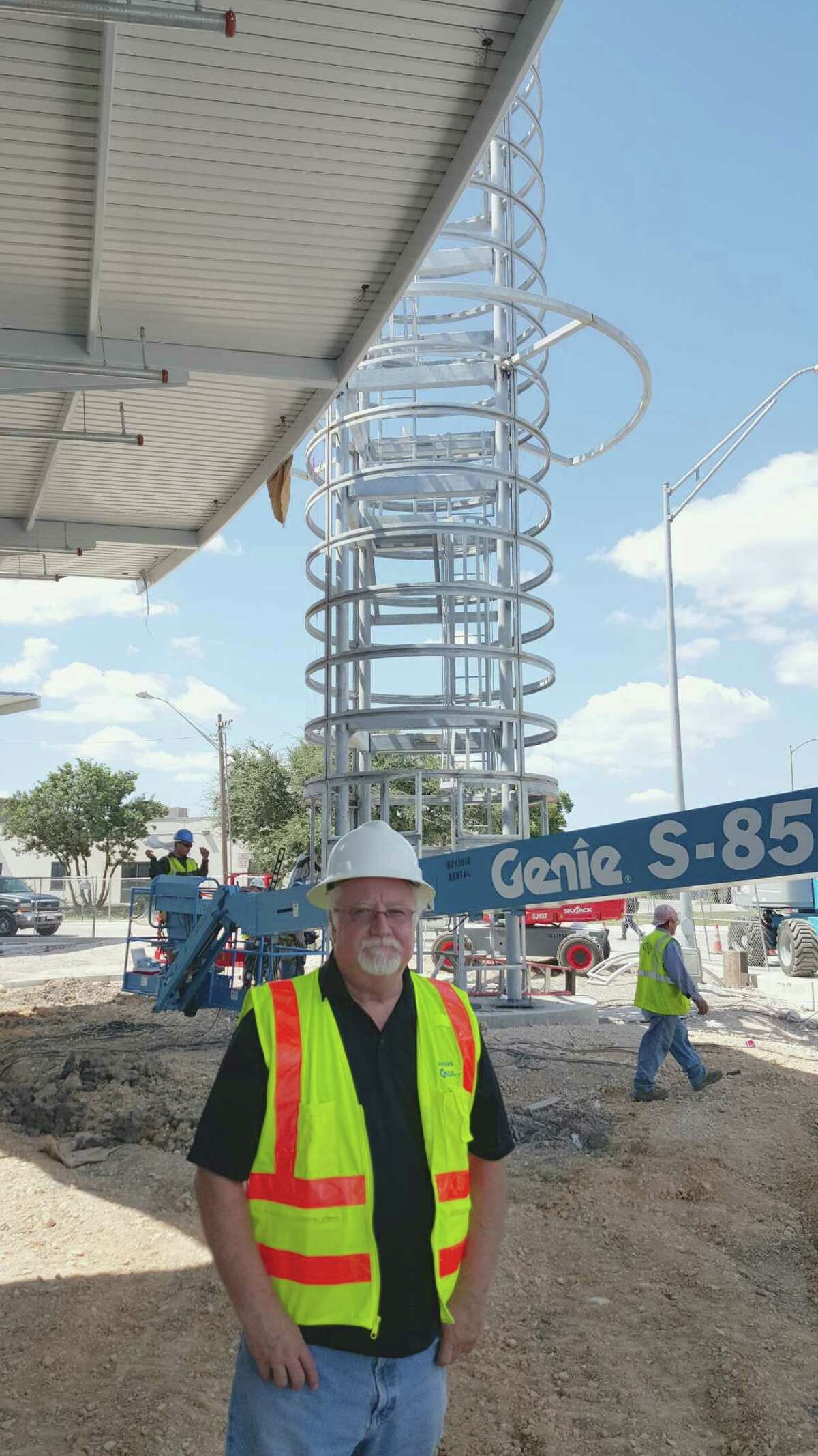 Bill FitzGibbons stands near the site of his new public art project,