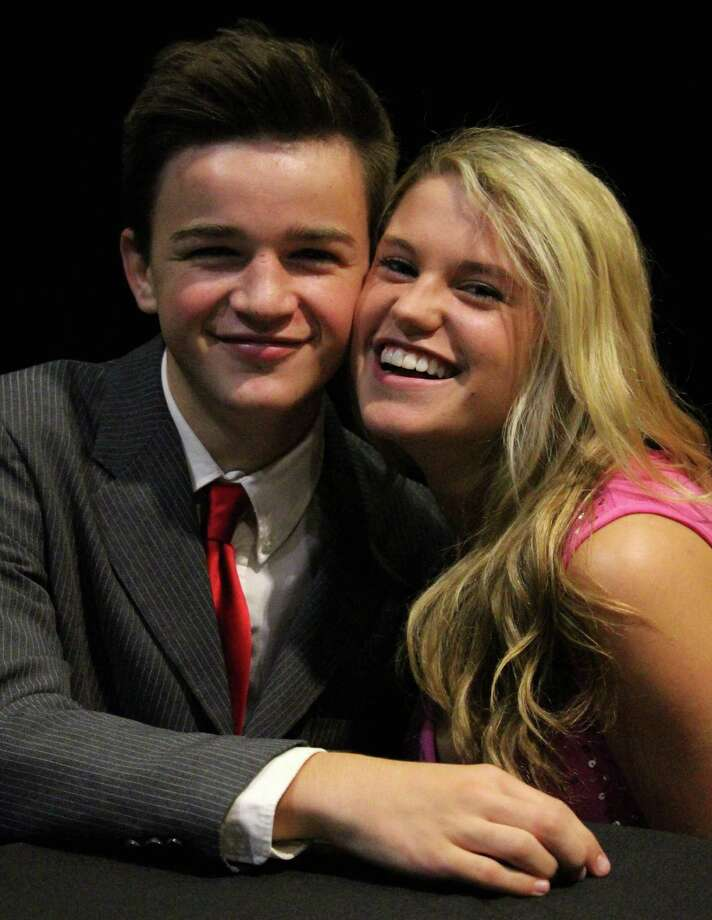 """Grant Clark plays Warner and Amanda Fitzburgh plays Elle Woods in """"Legally Blonde, The Musical."""" Photo: Contributed Photos / Fairfield Citizen"""