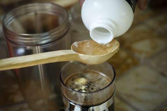 Bulletproof coffee-making.