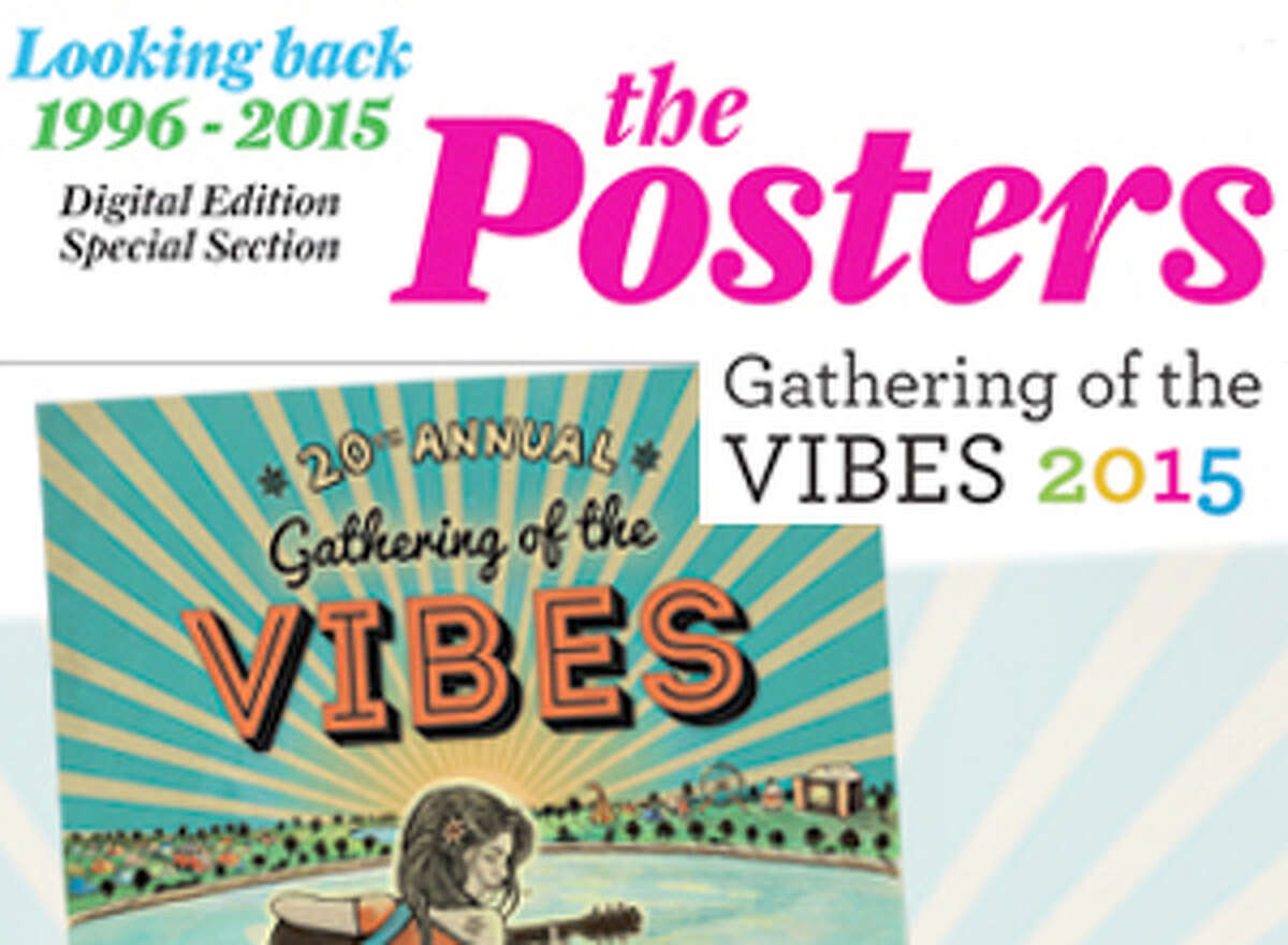 With the opening of the Gathering of the Vibes, we take a look back at the long and colorful history of the event through 19 years of posters.