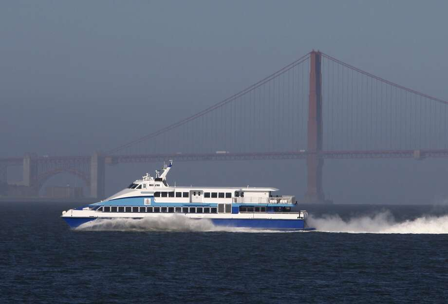 A Golden Gate Ferry boat glides across the bay in this file photo.  Photo: Paul Chinn, The Chronicle