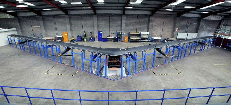 The Aquila is a high-altitude, long-endurance unmanned aircraft with a wingspan as big as a Boeing 737, designed by Facebook's aerospace team in the United Kingdom. Photo: Facebook / Facebook