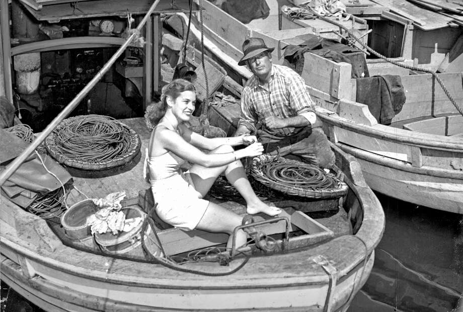 Diane Tirnell,, one of the Fiesta Queen contestants with Joe Tarrantino before the Fisherman's Wharf Fiesta photo ran 09/26/1947, p. 13 / ONLINE_YES