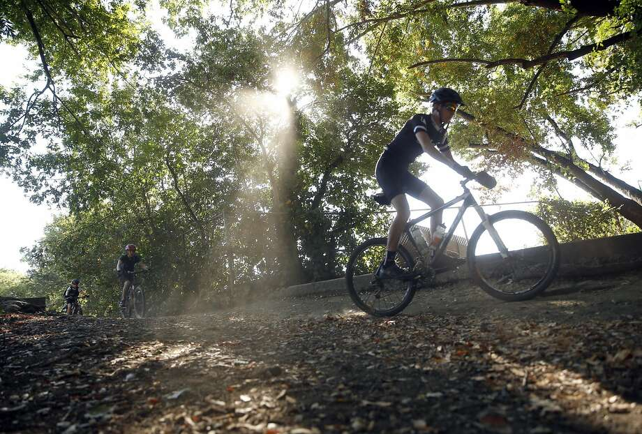 Gabe Whooley, 15, of San Anselmo, heads out on a daylong ride in July. Photo: Scott Strazzante, The Chronicle