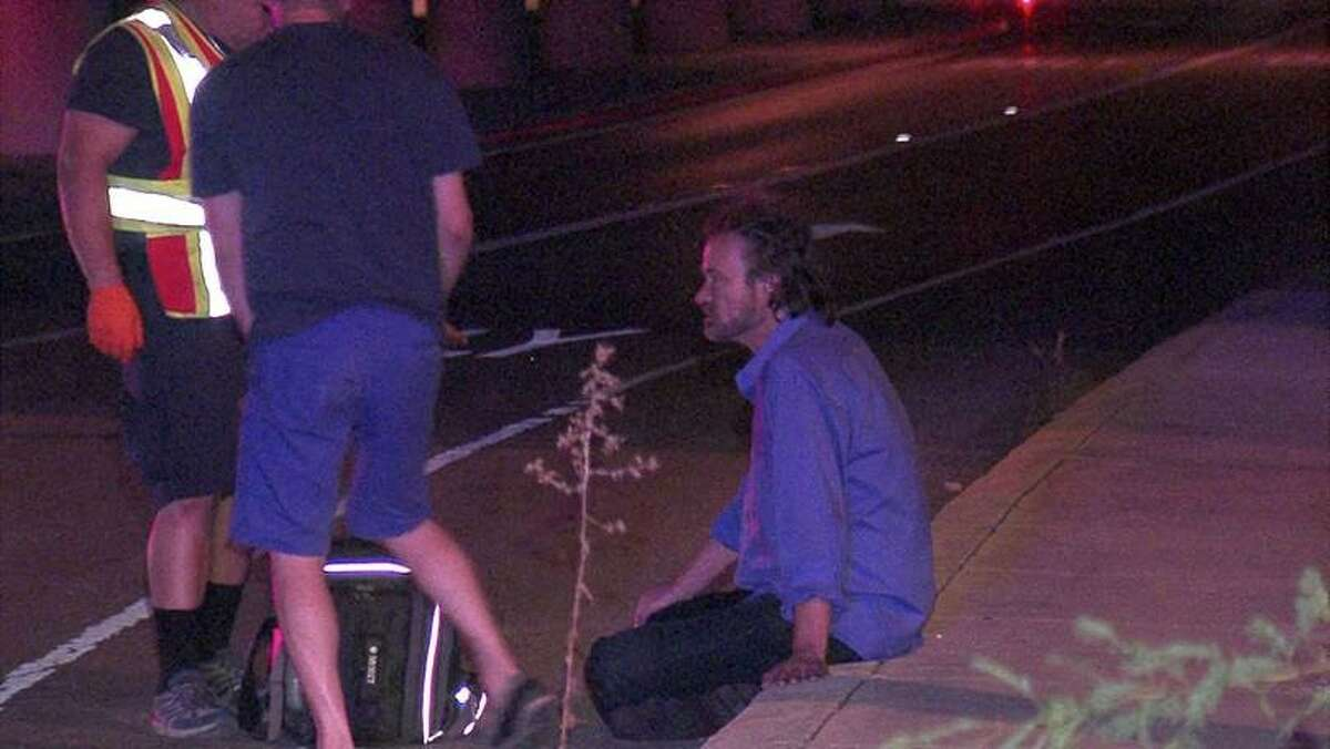 Three people were transported with varying injuries Thursday night following a hit-and-run crash on the Northside.