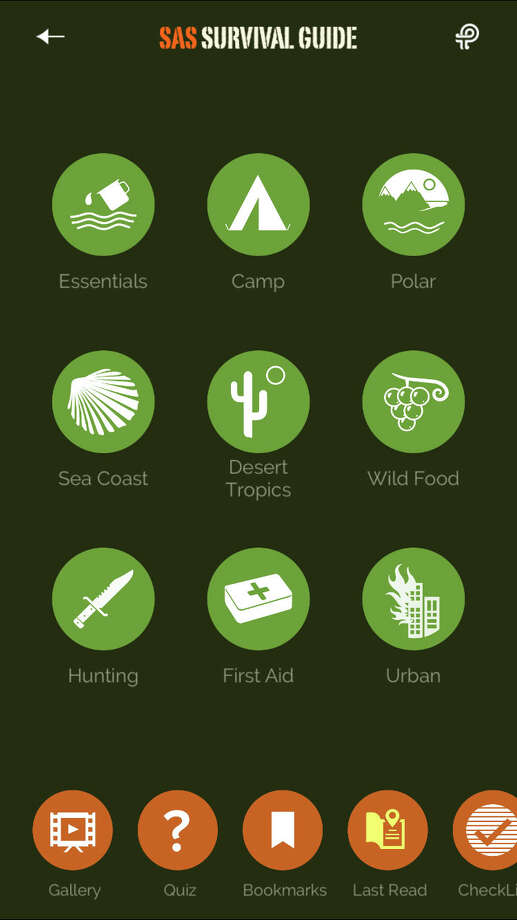 SAS Survival Guide app works on iOS and Android devices.  Photo: HANDOUT, STR / THE WASHINGTON POST