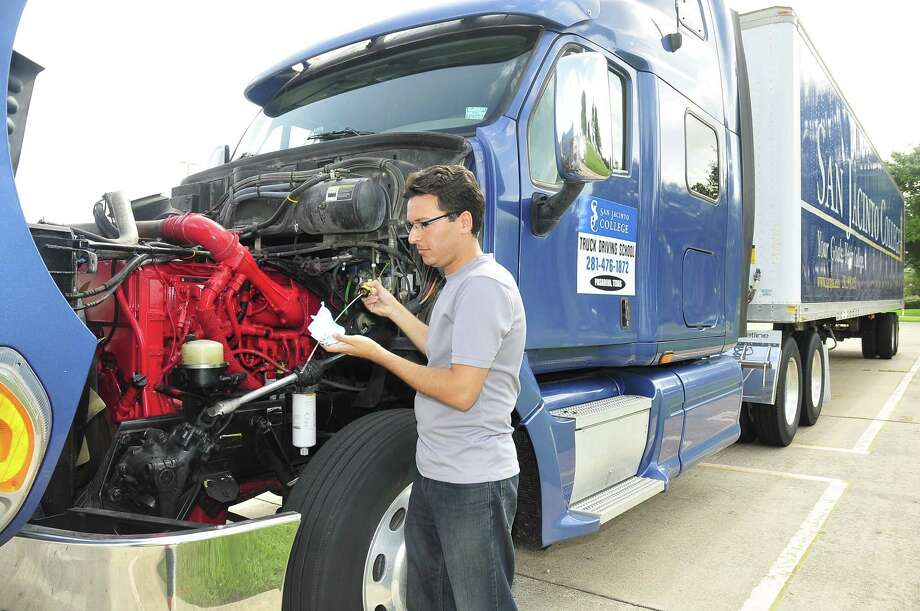Truck driving is a continuing education program at San Jacinto College. The program consists of two courses, totaling 246 hours.