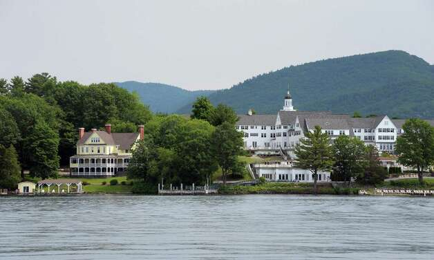 Mike Chrys' 19C house on the shores of Lake George next to the Sagamore Hotel, right, Friday June 12, 2015 in Bolton Landing, NY.   (John Carl D'Annibale / Times Union) Photo: John Carl D'Annibale / 00032208A