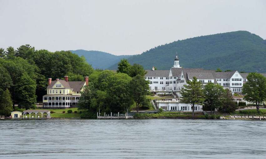 Mike Chrys' 19C house on the shores of Lake George next to the Sagamore Hotel, right, Friday June 12, 2015 in Bolton Landing, NY. (John Carl D'Annibale / Times Union)