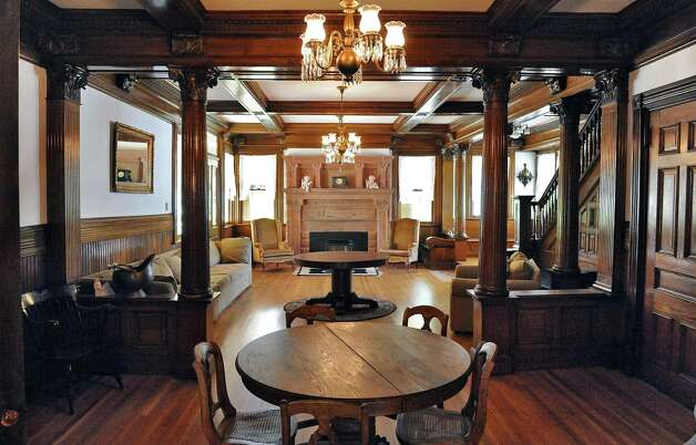 Living room in Mike Chrys' 19C house on the shores of Lake George Friday June 12, 2015 in Bolton Landing, NY.   (John Carl D'Annibale / Times Union) Photo: John Carl D'Annibale / 00032208A