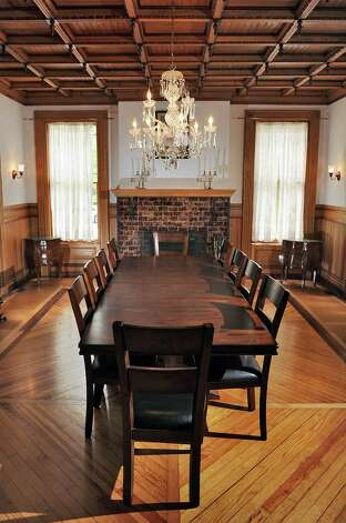 Dining room in Mike Chrys' house on the shores of Lake George Friday June 12, 2015 in Bolton Landing, NY.   (John Carl D'Annibale / Times Union) Photo: John Carl D'Annibale / 00032208A