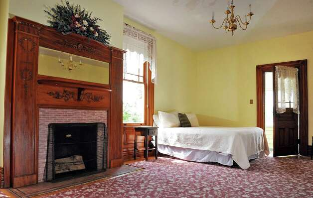 Master bedroom on the second floor of Mike Chrys' house on the shores of Lake George Friday June 12, 2015 in Bolton Landing, NY.   (John Carl D'Annibale / Times Union) Photo: John Carl D'Annibale / 00032208A